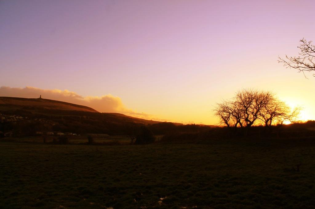 sunset darwen tower
