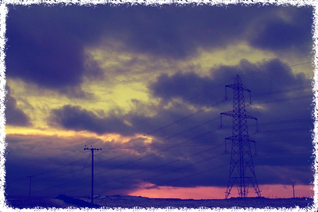 Pylons scaring landscape