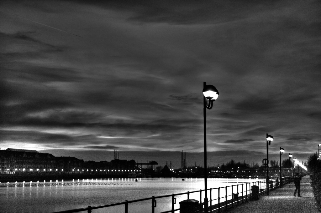 preston docks at night