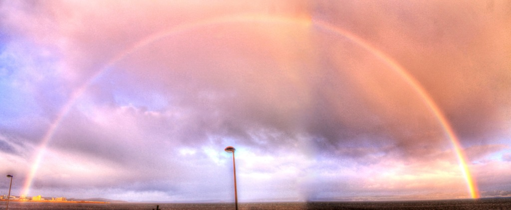 rainbow at Forth estuary