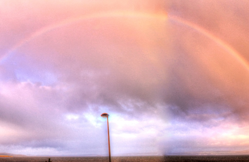 rainbow at Forth estuary