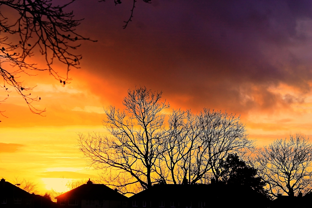 sunset in accrington