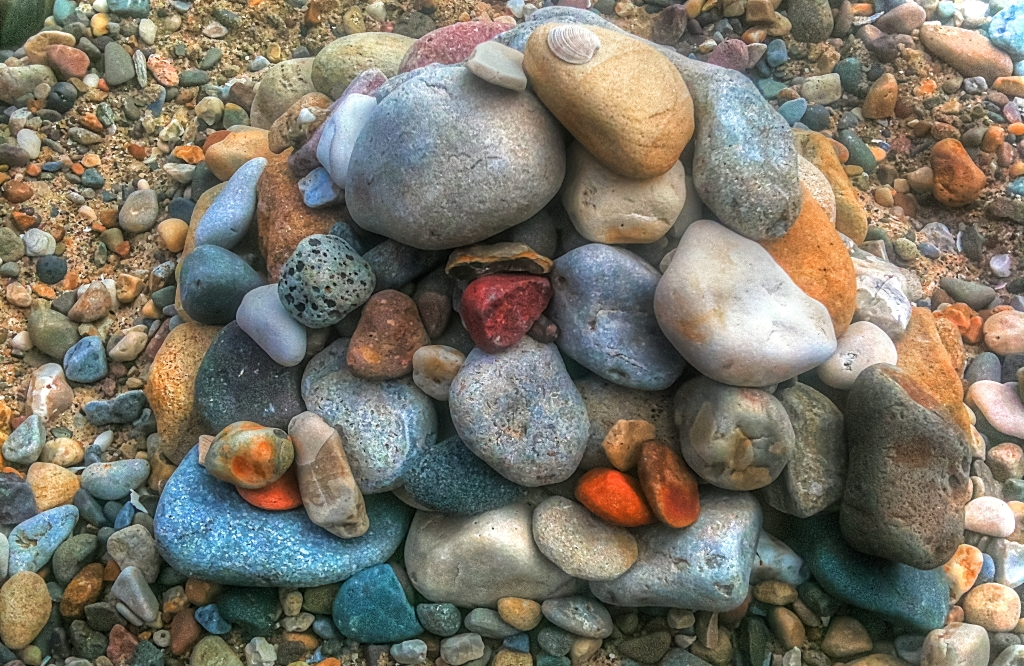 A neat pile of stones