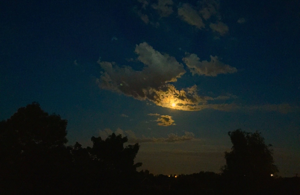 moon through clouds