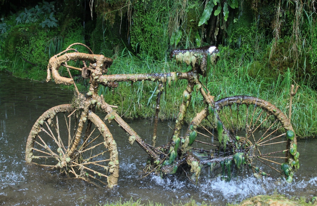 bike in calcite