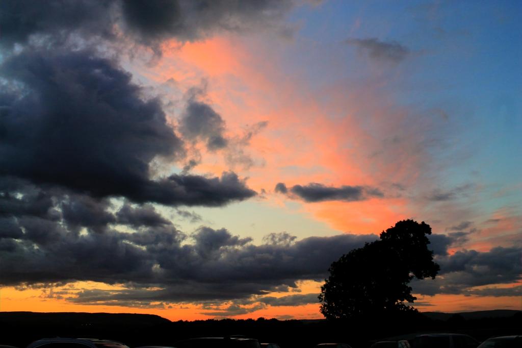 sunset overlooking longridge fell