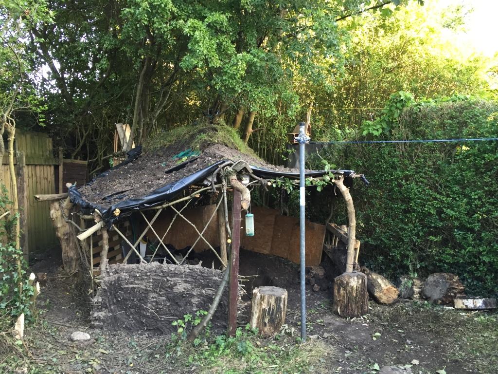hut under construction