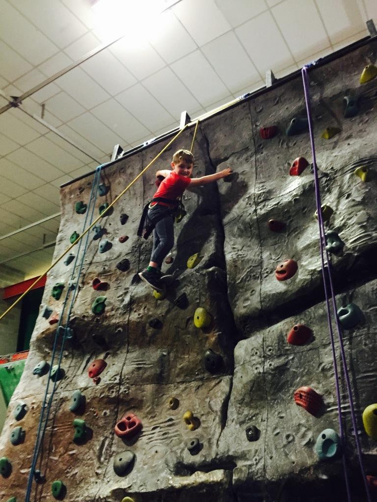 Matthew climbing