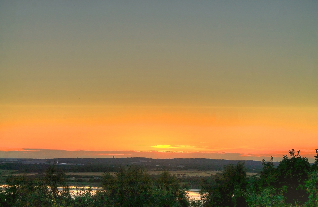 sunset from runcorn hill