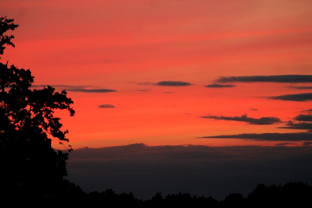 sunset 1st aug