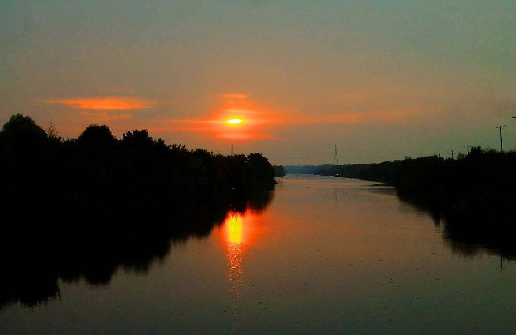 Manchester ship canal at moore